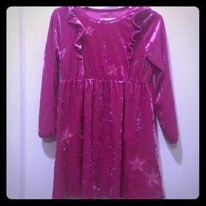 Girl Pink Velvet Dress